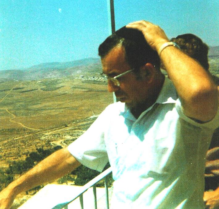 "Rabbi Zvi Aryeh Rosenfeld z""l during one of his trips to Eretz Israel"