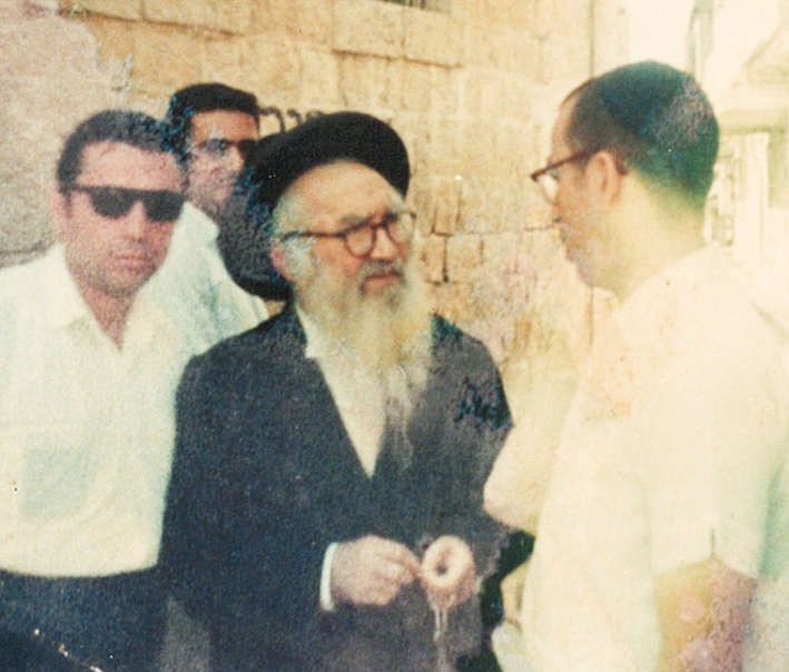 "Rabbi Zvi Aryeh Rosenfeld z""l with Rabbi Eliahu Chaim Rosen z""l"